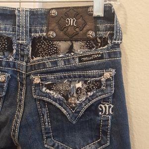Miss Me Jeans Black Crystal 25 x 30